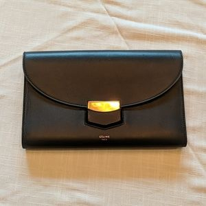 Celine Paris Black Classic Clutch